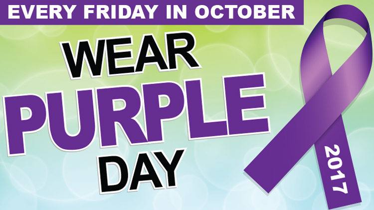 Wear Purple Friday: Domestic Violence Awareness Month