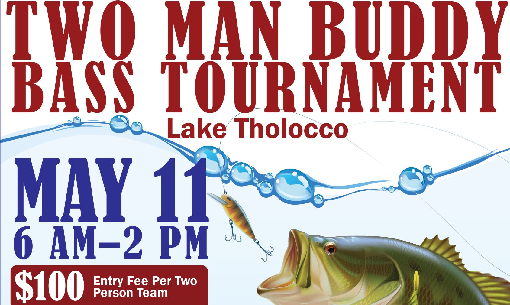 Two Man Buddy Bass Tournament